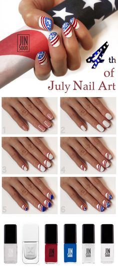 Fourth of July Manicure HOW TO from JinSoon #Sephora #SephoraNailspotting  #nailpolish #beautytutorial