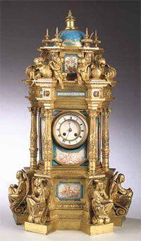 Sevres Porcelain Clock