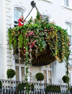 ha! love it! giant #Hanging #Basket flower garden!
