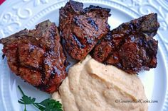 Gourmet Girl Cooks: Grilled Turkish Style Lamb Chops & Parmesan Cauliflower Mash w/ Oven Roasted Tomatoes