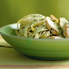 Chicken Fettuccine with Pesto Cream Sauce such an easy recipe to make and the pesto is to die for! Also tenderizing the chicken makes a HUGE difference!