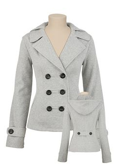 Hooded Jacket in Heather Gray from Maurice's size L $49