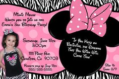 minnie mouse zebra party @Meredith Bippen