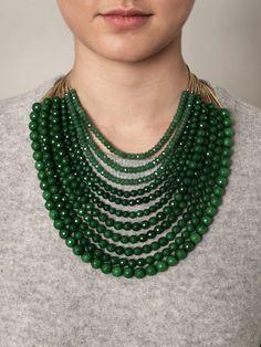 jade necklace bling, jewelleri, style, accessori, green, baubl, necklaces, jade necklace, jewelri