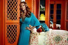 Somali-born supermodel Iman was inspired by the rich colors and patterns from Morocco, Ibiza, and Hollywood.