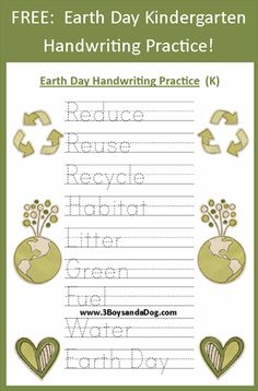 FREE: Kindergarten Handwriting Printables