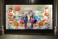 Explosion of colour - Window display using Self cling vinyl reverse printed and backed up with white