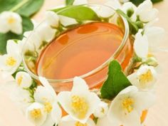 Jasmine Tea  Some of the health benefits that Jasmine tea offers are; its ability to lessen the danger of blood clot, reduce blood sugar level, improve the immune system, prevent flu and allergy as well as give fluoride and oral care which helps prevent tooth decay and protect against cavities. Jasmine tea also helps enhance intestine conditions through blocking the growth and development of bad bacteria as well as strengthening the good bacteria in the body.