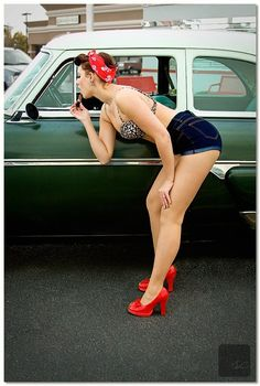 My style kind of goes rockabilly in the summer. Because what else am I going to wear to car shows? - SP
