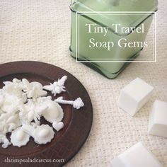 Homemade DIY Tiny Travel Soap Gems