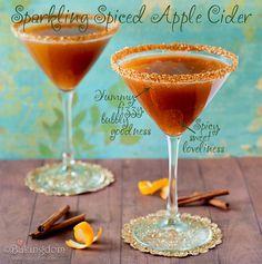 Sparkling Spiced Cider.