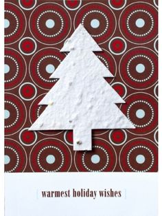 BLM-C6302 Seed Paper Warmest Holiday Wishes Greeting Card - 100% recycled. #christmas #gogreen #ecofriendly