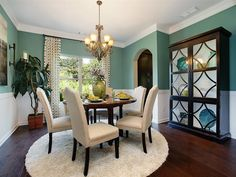 Dining Room teal color