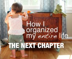 An organization blog! Just an ordinary, busy, mom trying to take organization one step at a time. It looks like it's going to be good!