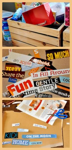 """Writing Ideas for Kids: """"Found"""" poems using old magazines"""