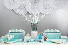 "#DBBridalstyle This chic & modern candy bar would be perfect for any bride with a ""love birds"" #wedding theme!"