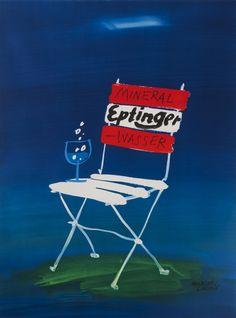 Herbert Leupin Poster: Eptinger Mineral Wasser (chair)
