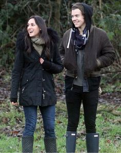 Harry at a park recently with Ben Winston's wife