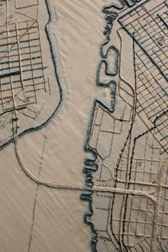 embroidered map--This one I will make this year--an embroidered map of Coronado for a Christmas present.