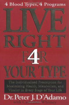 Live Right 4 Your Type by Peter J. D'Adamo, http://www.amazon.com/gp/product/0399146733/ref=cm_sw_r_pi_alp_gu6Bqb1XPMCXD