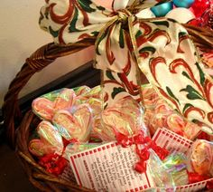 Christmas candy cane treat and poem