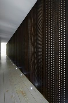 Corridor inside House A by Vaillo Irigaray and Beguiristain.