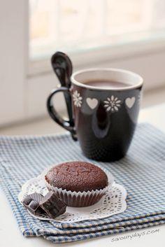 coffee and chocolate muffin