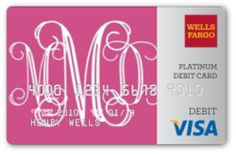 Monogrammed credit card -Absolutely adorable. love this!