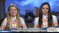 Oneida These cheerleaders prayer during moment of silence has been declared unconstitutional, Lord's Prayer. 9-20-14