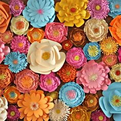 Spring is the perfect time to make this 3d paper flowers wall art.