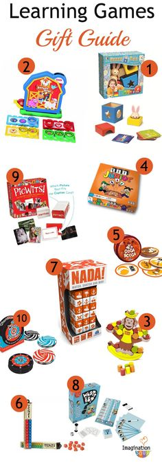 I'm LOVING these game suggestions - great ideas for learning & fun!