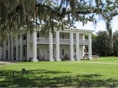 The Gamble Plantation is the only surviving plantation home in South Florida. The antebellum mansion was once the headquarters of an extensive sugar plantation. Located in Ellenton, FL. w