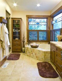 Beautiful bathroom with Jacuzzi Tub