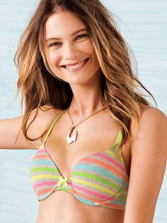 Rainbows made out of cotton? Oh yes. // Victoria's Secret Demi Bra