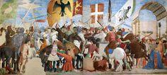Piero della Francesca, Battle between Heraclius and Chosroes, c. 1466, fresco, 329 x 747 cm, San Francesco, Arezzo