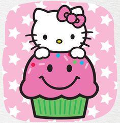Luly fee ♥ hello kitti, kawaii cupcak, kitti cupcak, hellooo kittyy, hellokitti, hello kitty