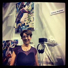 We ran into #LeagueArtist Helen Mukhtar and her #VideoArt pieces at @Fountain Art Fair!