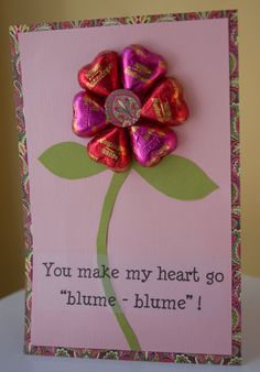 Candy Valentines Card