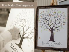 Thumbprints wedding guestbook tree