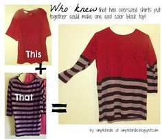 Refashion Clothes Tutorials and DIYS