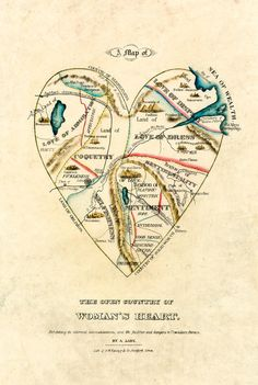 A Map of the Open Country of a Woman's Heart by D.W. Kellogg & Co.