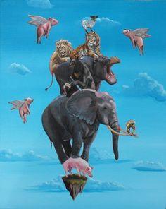 """Seeking Balance"" by Michael Summers. Fine Art Limited Edition, 16"" x 20""."