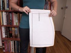 How to Draft a Simple Skirt Pattern, CRAFTOVISION - YouTube