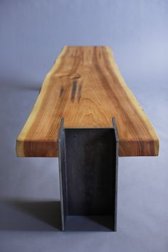 Bench - Live Edge Cedar Slab