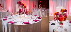 a pink colorful wedding