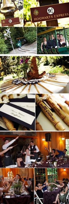 Harry Potter themed wedding. hahaha i love me some harry potter, but not this much