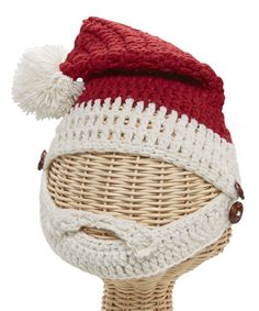 Take a look at this Red Santa Bearded Knit Beanie by San Diego Hat Company on #zulily today!
