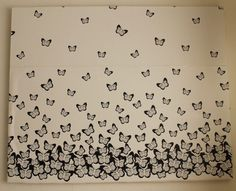 DIY butterfly canvas   @iamladylins  iamladylins.blogspot.com  #design #DIY #create #make #print #wallpaper