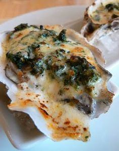 Baked Oysters Rio Mar With Chorizo and Spinach recipe