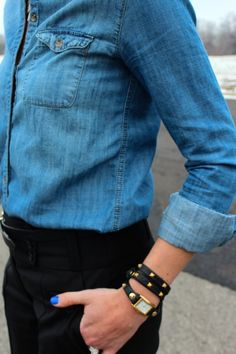 Outfit Post: Business Casual * chambray for work